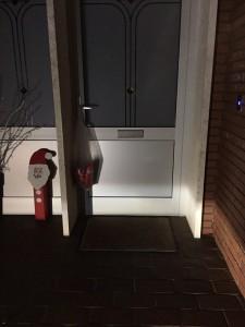 Tür am Nikolausmorgen